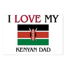 I Love My Kenyan Dad Postcards (Package of 8)