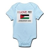 I Love My Jordanian Dad Infant Bodysuit