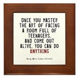 Teacher Quote Framed Tile