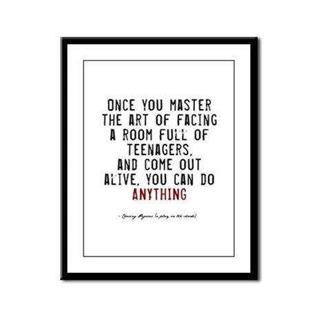 Teacher Quote Framed Panel Print