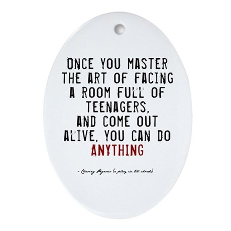 Teacher Quote Oval Ornament
