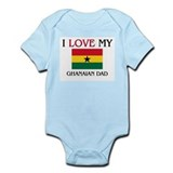 I Love My Ghanaian Dad Infant Bodysuit