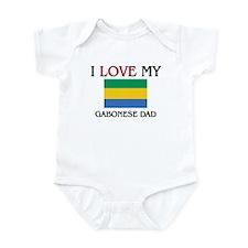 I Love My Gabonese Dad Infant Bodysuit