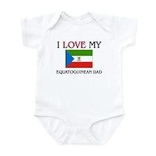 I Love My Equatoguinean Dad Infant Bodysuit