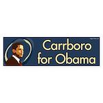 Carrboro for Obama bumper sticker