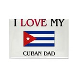 I Love My Cuban Dad Rectangle Magnet (10 pack)