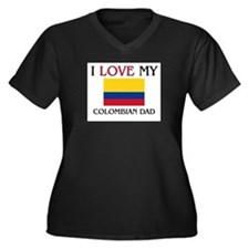 I Love My Colombian Dad Women's Plus Size V-Neck D