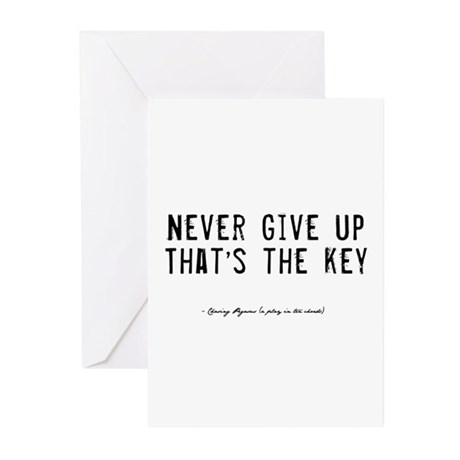 Give Up Quote Greeting Cards (Pk of 10)