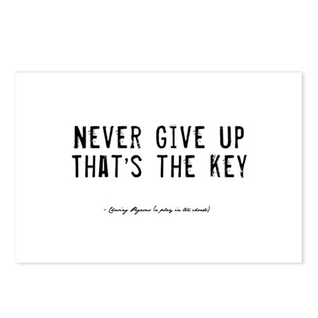 Give Up Quote Postcards (Package of 8)
