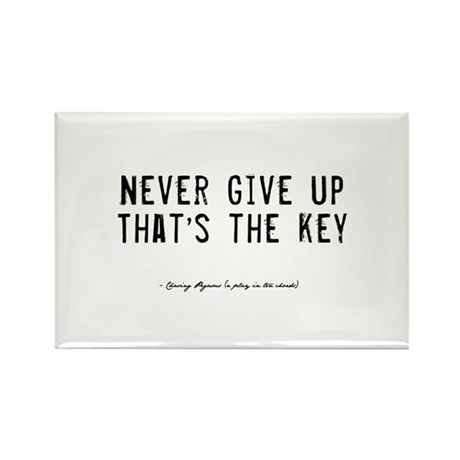 Give Up Quote Rectangle Magnet (100 pack)