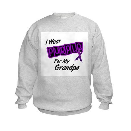 I Wear Purple 8 (Grandpa) Kids Sweatshirt