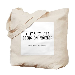 Prozac Quote Tote Bag