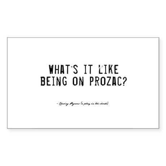 Prozac Quote Rectangle Sticker