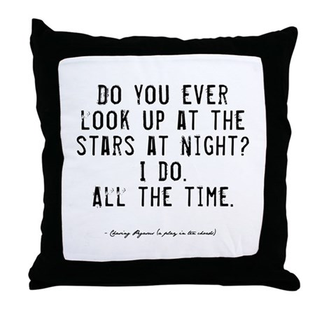 Stars Quote Throw Pillow