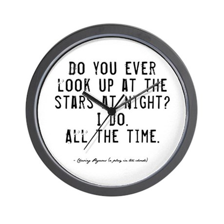Stars Quote Wall Clock