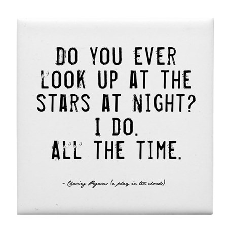 Stars Quote Tile Coaster