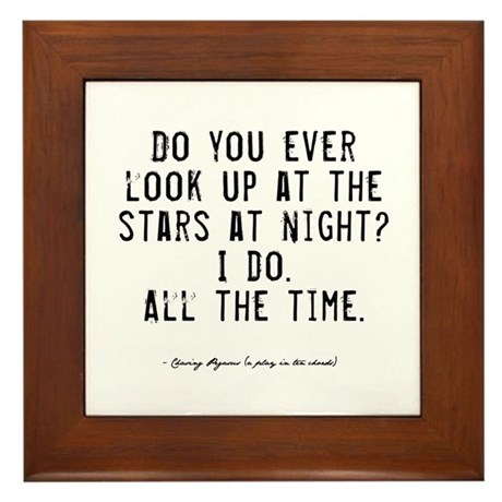 Stars Quote Framed Tile