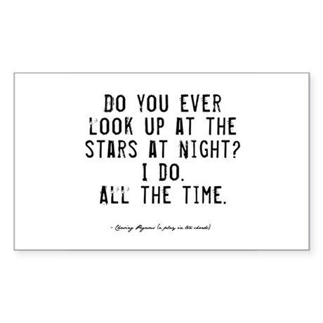 Stars Quote Rectangle Sticker