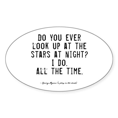 Stars Quote Oval Sticker