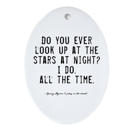 Stars Quote Oval Ornament