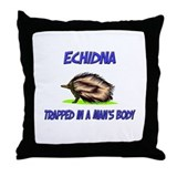 Echidna Trapped In A Man's Body Throw Pillow