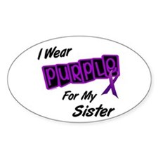 I Wear Purple 8 (Sister) Oval Decal