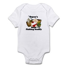 Papou's Fishing Buddy Infant Bodysuit