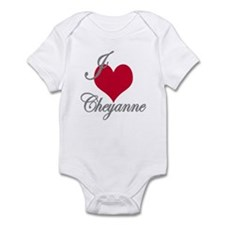 I love (heart) Cheyanne Infant Bodysuit