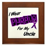 I Wear Purple For My Uncle 8 Framed Tile