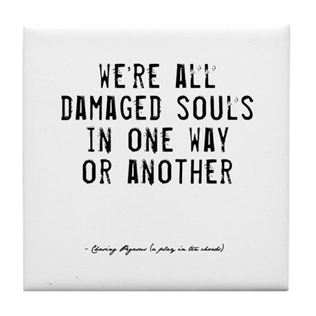 Souls Quote Tile Coaster