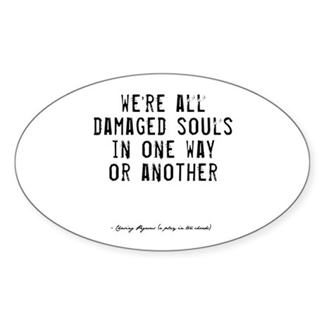 Souls Quote Oval Sticker