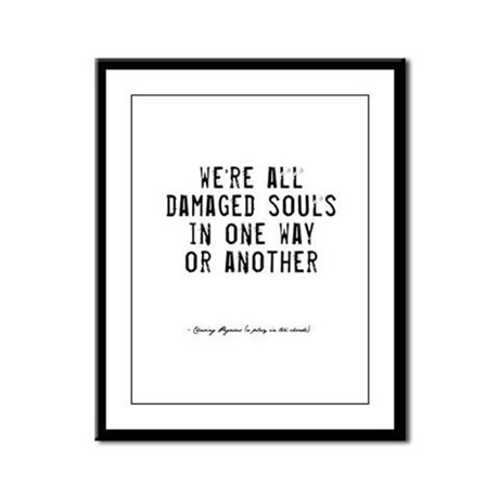 Souls Quote Framed Panel Print