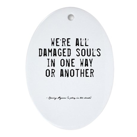Souls Quote Oval Ornament