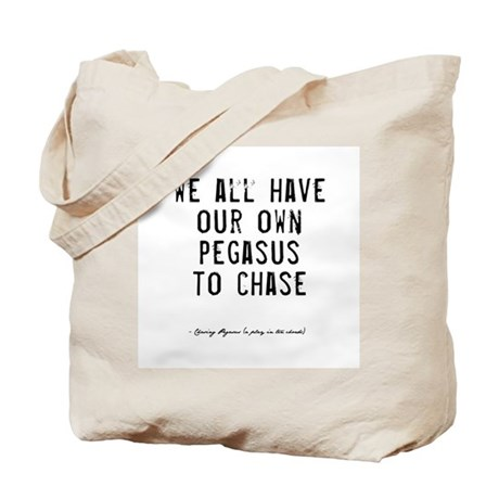 Pegasus Quote Tote Bag