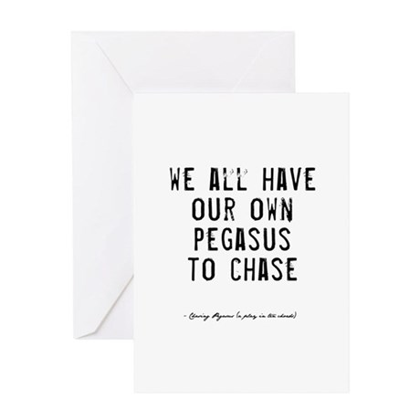 Pegasus Quote Greeting Card