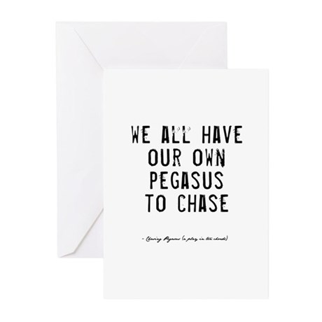 Pegasus Quote Greeting Cards (Pk of 20)