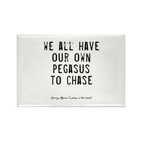 Pegasus Quote Rectangle Magnet (100 pack)