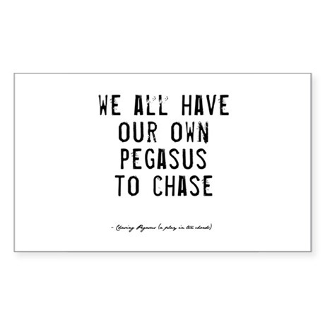 Pegasus Quote Rectangle Sticker