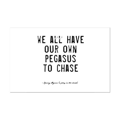 Pegasus Quote Mini Poster Print