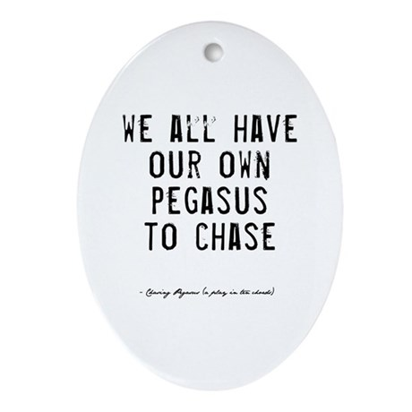 Pegasus Quote Oval Ornament