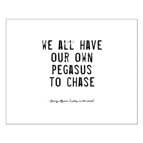Pegasus Quote Small Poster