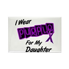 I Wear Purple 8 (Daughter) Rectangle Magnet (10 pa