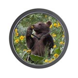Grizzly Bear Cub Wall Clock