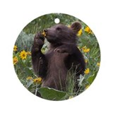 Grizzly Bear Cub Keepsake (Round)