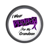I Wear Purple 8 (Grandson) Wall Clock