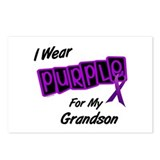 I Wear Purple 8 (Grandson) Postcards (Package of 8