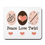 Peace Love Twirl Baton Twirling Mousepad