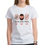 Peace Love Twirl Baton Twirling Women's T-Shirt