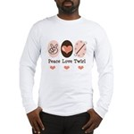 Peace Love Twirl Baton Twirling Long Sleeve Tee