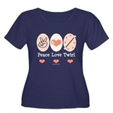 Peace Love Twirl Baton Twirling Tee-Shirt
